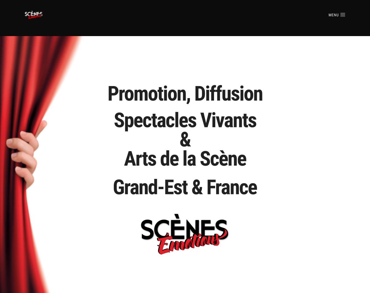 Scènes Émotions - Site Internet Version 2019 - Landing Page