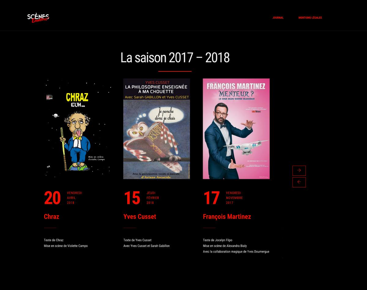 Scènes Émotions - Site Internet Version 2019 - Saison 2017-2018