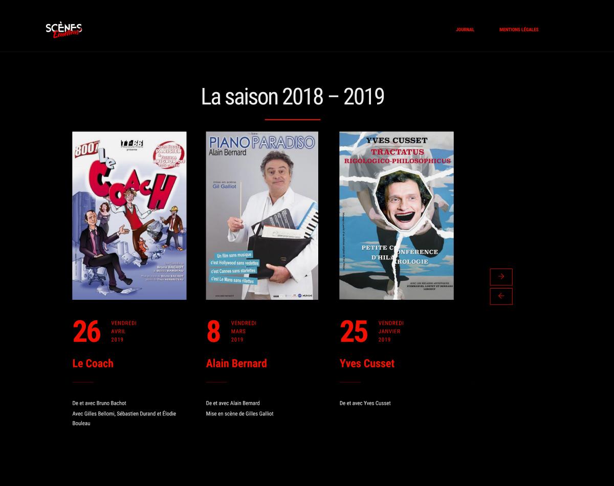 Scènes Émotions - Site Internet Version 2019 - Saison 2018-2019