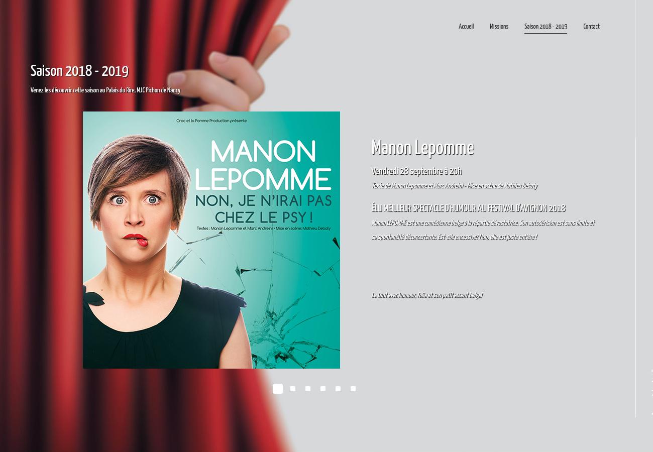 Scènes Émotions - Site Internet Version 2018 - Page Annonce Spectacle