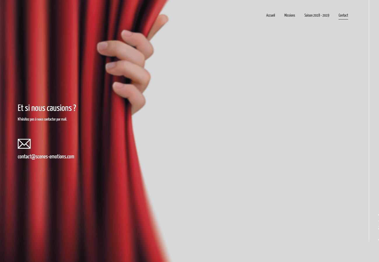 Scènes Émotions - Site Internet Version 2018 - Page Contact